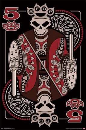 Framed Five Finger Death Punch - 5 Card Print