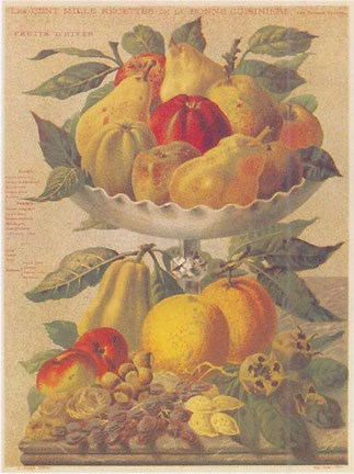 Framed Fruits d'hiver Print