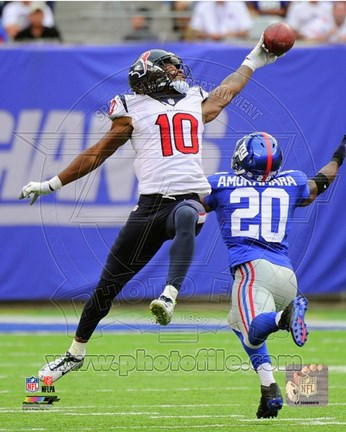 Framed DeAndre Hopkins catching the ball 2014 Print