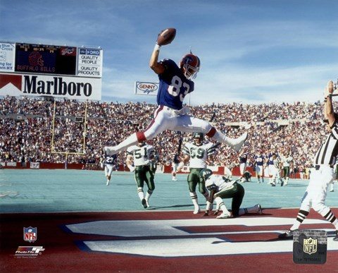 Framed Andre Reed 1990 Action Print