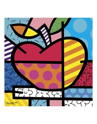 The Apple Fine Art Print By Romero Britto At