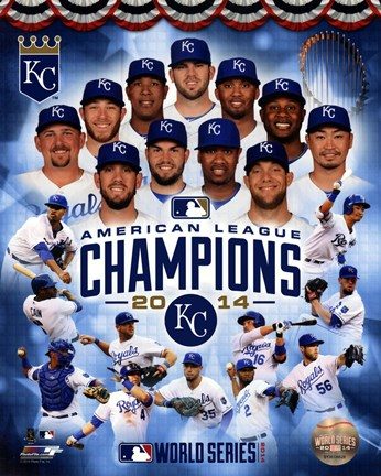 Framed Kansas City Royals 2014 American League Champions Composite Print