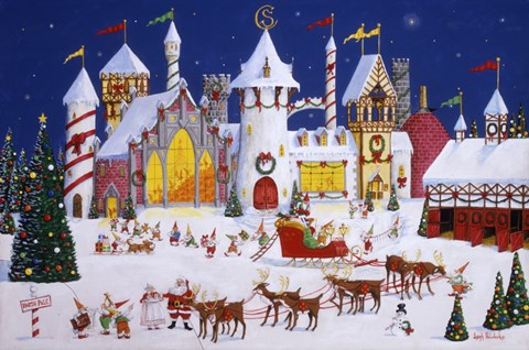 Santa S North Pole Fine Art Print By Joseph Holodook At