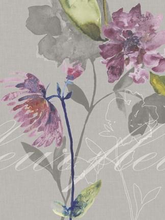 Violette Fleur Ii Fine Art Print By Kiana Mosley At