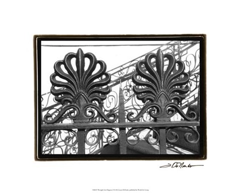 Framed Wrought Iron Elegance I Print