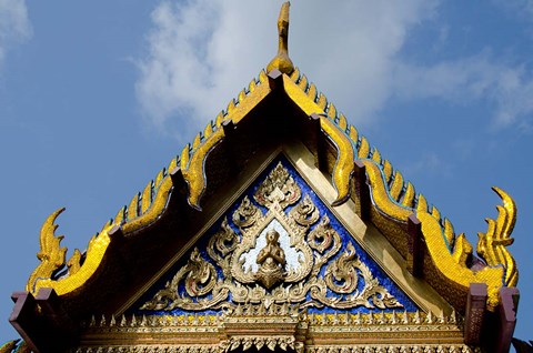 Framed Royal Monastery of Emerald Buddha, Grand Palace, Wat Phra Keo, Bangkok, Thailand Print