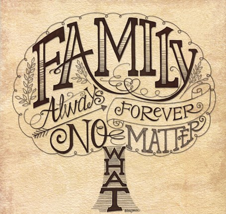 family always and forever fine art print by deb strain at