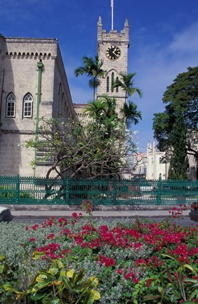 Framed Government House, Bridgetown, Barbados, Caribbean Print