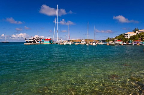 Framed Harbor, Leverick Bay Resort and Marina, BVI Print