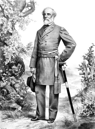 General Robert E Lee Stand Black Amp White Fine Art Print