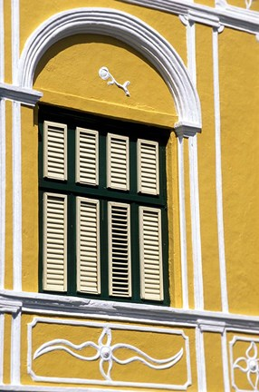 Framed Window, Willemstad, Curacao, Caribbean Print