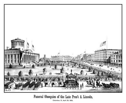 Framed Funeral Procession of President Lincoln Print