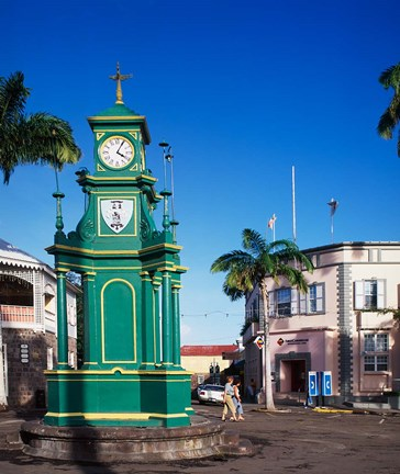 Framed Circus and Berkeley Monument, Basseterre, St Kitts, Caribbean Print