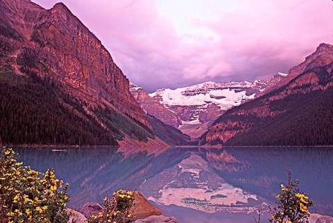 Framed Dawn at Lake Louise, Alberta, Canada Print