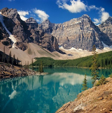 Framed Alberta, Moraine Lake, Valley of the Ten Peaks Print