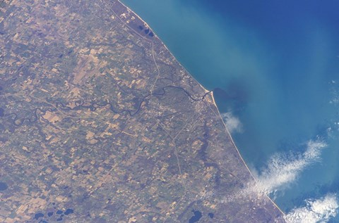 Framed Satellite view of St Joseph Area, Michigan Print