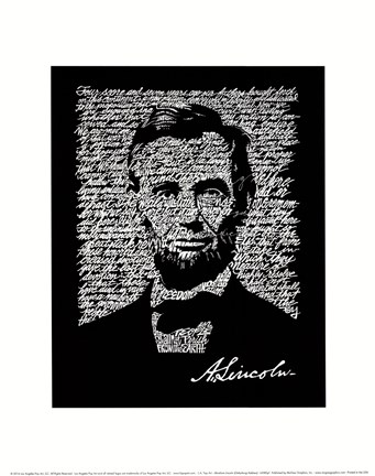 picture relating to Gettysburg Address Printable referred to as Abraham Lincoln (Gettysburg Include) Good Artwork Print via LA