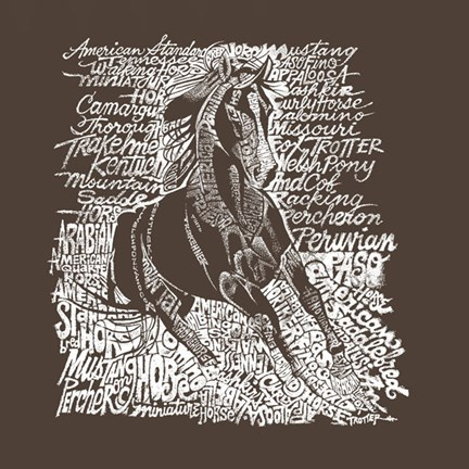 Framed Horse (Popular Horse Breeds) Print