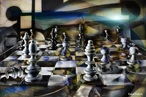 Chess Abstract Fine Art Print By Robert Michaels At