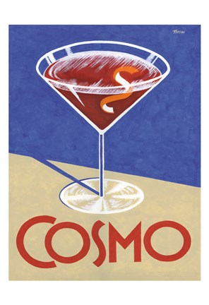 Framed Retro Cosmo Print