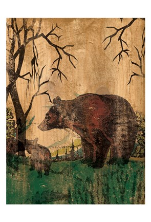 Framed Mama Bear 1 Print