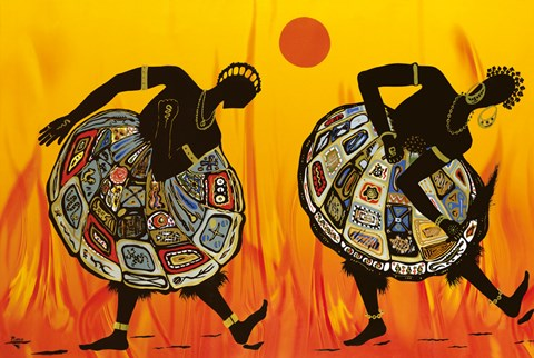 Framed Two Dancing Women Print