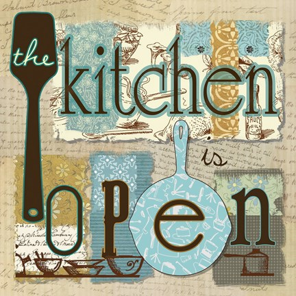 Framed Kitchen is Open Print