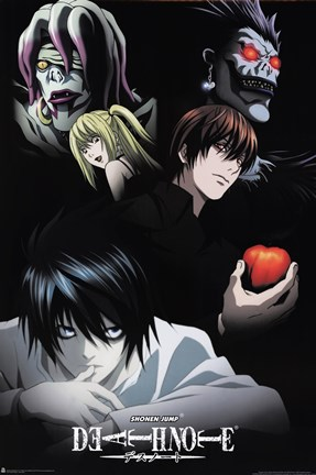 Framed Deathnote - Characters Print