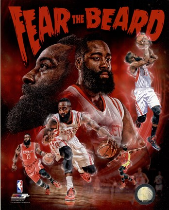 dd5bdb83db6 James Harden Fear the Beard Portrait Plus Fine Art Print by Unknown ...
