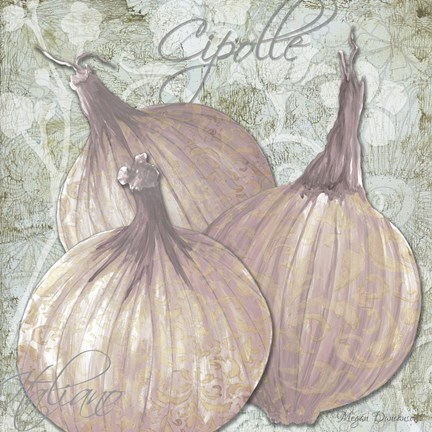 Framed Buon Appetito Red Onions Print
