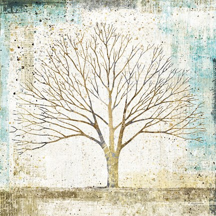 Framed Solitary Tree Collage Print