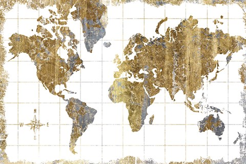 Gilded Map by Wild Apple Portfolio