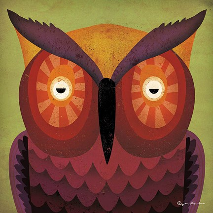 Framed Owl WOW Print