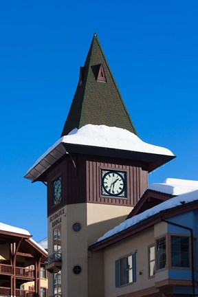 Framed British Columbia, Sun Peaks Resort, clock tower Print