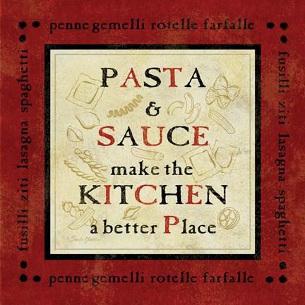 Framed pasta sayings ii print