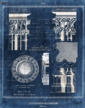 Vintage Blueprints II Fine Art Print by Tre Sorelle Studios at ...