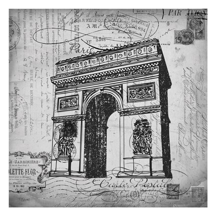 Framed Eco Vintage Paris 2 Print