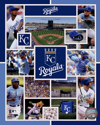 Framed Kansas City Royals 2015 Team Composite Print