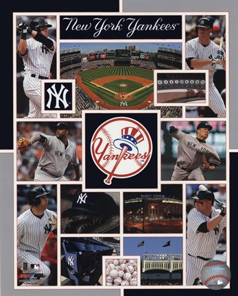 Framed New York Yankees 2015 Team Composite Print