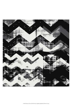 Framed Abstract Chevron III Print