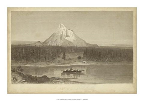 Framed Mount Hood from Columbia Print