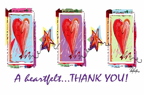 Heartfelt Thank You Fine Art Print By Pam Reinke At