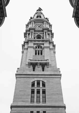 Framed City Hall Spire II Print