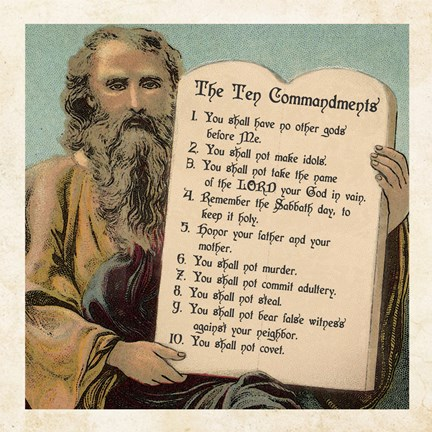 Tablets Of The Ten Commandments Fine Art Print By Veruca