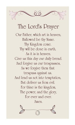 5659def16a8bc The Lord's Prayer - Floral Fine Art Print by Veruca Salt at ...