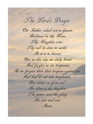 The Lord S Prayer Sunset Fine Art Print By Veruca Salt