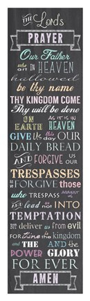 Framed Lord's Prayer - Chalkboard Print