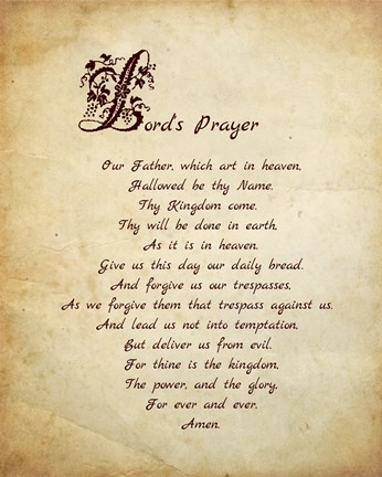 photo relating to Printable Lords Prayer identify Veruca Salt Lords Prayer