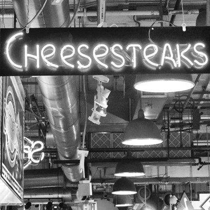 Framed Cheesesteaks  (b/w) Print