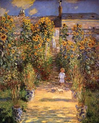Superieur Claude Monet The Artistu0027s Garden At Vetheuil With Boy, C.1880